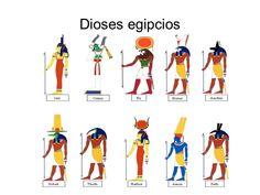 Presentación de los dioses egipcios.