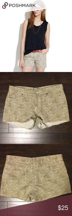 Madewell Denim Cutoff Shorts These are Madewell shorts in the Safari Dot print. They are in great condition and are a size 27. Madewell Shorts Jean Shorts