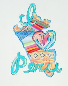 I Love Peru Print