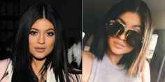 """Two things to report on here. 1) Kylie removed """"[her] weave."""" 2) Celebrities are really taking this hair transformation business into their own hands.   - MarieClaire.com"""
