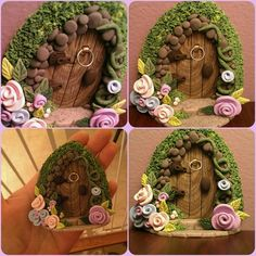 Polymer Clay Fairy Door by ThePolymerClayhouse on Etsy, $20.00