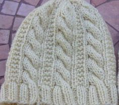 "Angelarae Knits: Gingerbread Hat Size:small(med, lg) *The small size fits my 7 yr. old daughter* Any worsted/heavy worsted yarn.   US8 16"" circular needle set of 4 US8 double  6 rows/5 stitches to the inch"