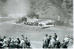 """Here we're looking at a concert at the Hollywood Bowl so early there wasn't even a Bowl yet. So I guess back in 1921, when this photo was taken, it was just the site of the future Bowl. (The first one wasn't built until 1927 when Frank Lloyd Wright's son built a pyramidal shell out of left-over lumber from the 1922 Pickford-Fairbanks studio production of """"Robin Hood."""")"""