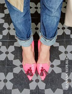 All about these hot pink tassel pumps for fall. The shoe that steals every scene and finishes every outfit from denim to dresses. Bonus: the Avila comes in a wide range of colors from black to gun-metal gray to tamale red.