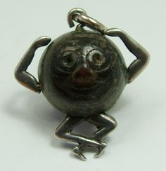 WWI Silver Touch Wood 'Touch Wud' Lucky Charm.
