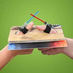 Um... Yes!! Star Wars Thumb Wrestling Kit Has You Fighting With Small Lightsabers, someone buy this for me, please!