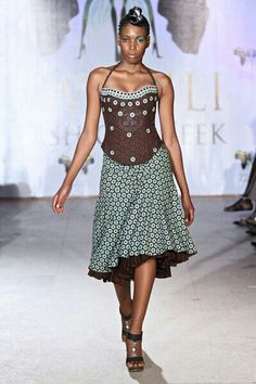 By Bongiwe Walaza, my favourite South African designer. Africa Fashion, African Inspired Fashion, African Print Fashion, Fashion Prints, African Attire, African Wear, African Women, African Style, African Girl