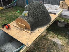Wood fired Pizza Oven made with an exercise ball for $135