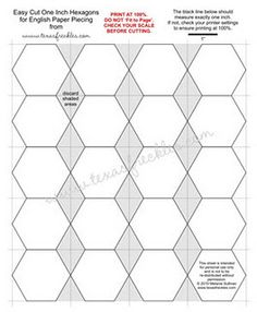Quilts hexagons on pinterest hexagons hexagon quilt for 1 5 inch hexagon template