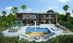 In splashy Los Angeles, the sky is the limit for speculatively built mega mansions. But there's a new trend emerging that raises the stakes even higher: conceptual residences in the city's chicest addresses that haven't even broken ground yet.Beyond the basics of a multi-million-dollar custom home, these statements of grandeur tend to blend the latest