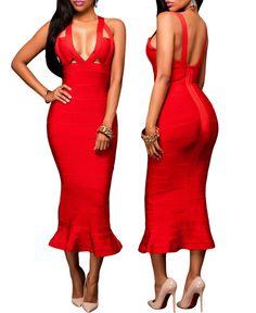 $119.99 Fishtail Luxe Bandage Dress