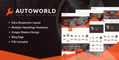 Download Nulled Autoworld  Spare Parts Responsive Prestashop Theme For Free