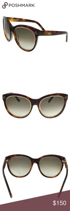 Chloe Tortoise Butterfly Sunglasses A true statement pair, the striking shades also offer full UV protection.      Discreet Chloe signature on one temple- Dimensions: 56mm-19mm-135mm     Plastic frames with Gold metal detail around the lenses and Chloe signature on the temple.     Fashion forward design- celebrity style eyewear     Comes in orginal Chloe box, case and cleaning cloth - Made in Italy     100% Authenticity guaranteed or Money back Chloe Accessories Sunglasses