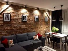 The Appeal of Nordic Feeling Living Room The drawing room is normally intended to be situated at the entrance of someone's house whilst formulating th. House Styles, Living Design, House Design, Home Room Design, Brick Living Room, Living Room Decor, House Interior, Room Decor, Home Deco