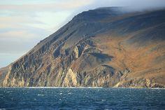 Spectacular Cliffs Landscape Wrangel Island UNESCO World Heritage Site Russia