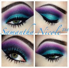 Addicted To Pretty: Gorgeous colors. Ursula makeup?