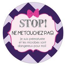 STOP Girl Preemie newborn baby car seat tag baby by TagsforTots