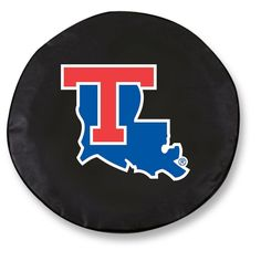 Louisiana Tech Bulldogs Black Tire Cover w/ Security Grommets