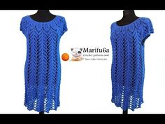 How to crochet sweater pullover tunic dress tutorial pattern by marifu6a - YouTube