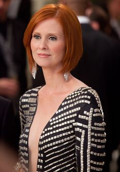 Cynthia Nixon has the PERFECT red.