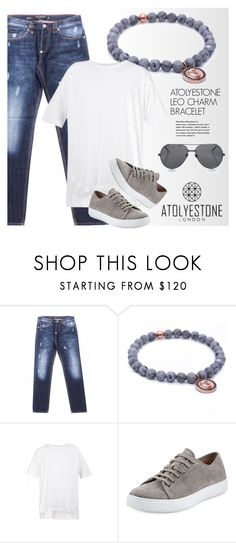 """ATOLYESTONE.com"" by monmondefou ❤ liked on Polyvore featuring Philipp Plein, Vince, Linda Farrow, men's fashion, menswear and atolyestone"