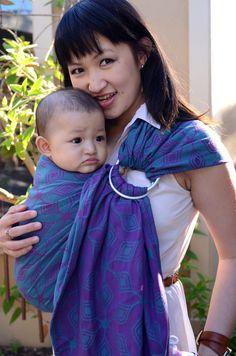 Yaro Atomium Emerald Purple Ring Sling (cotton)