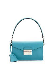 Prada Saffiano Mini Sound Bag Turquoise #bagsforsale