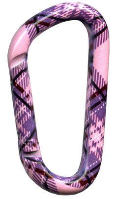 Plaid Pink Carabiner | Bison Designs $4