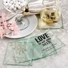 FashionCraft 3206S Personalized Glass Coasters #wedding