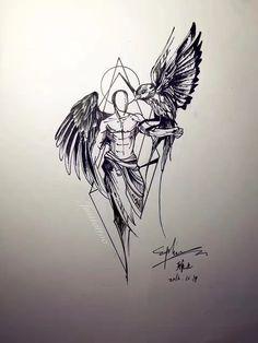 My Most Favorite Geometric Tattoo Sketch Style Tattoos, Tattoo Sketches, Art Sketches, Bild Tattoos, Body Art Tattoos, Sleeve Tattoos, Tatou Animal, Phenix Tattoo, Tatuaje Trash Polka