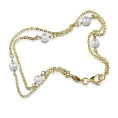 Gull armbånd med ferskvannsperler Pendant Necklace, Jewelry, Fashion, Moda, Jewels, Fashion Styles, Schmuck, Jewerly, Jewelery