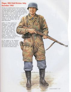 LUFTWAFFE - Fallshirmjaeger, 30a Field Division, Italia, Dic 1943