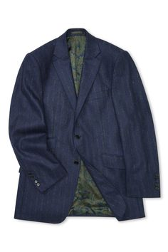 Part of our separates collection, this single-breasted flannel suit jacket is cut in our house style with superior half-canvas construction and two buttons to fasten. The pure wool flannel cloth is soft but substantial, fabric woven in Italy by Vitale Bar Flannel Suit, Woven Fabric, Suit Jacket, Pure Products, Blazer, Jackets, Men, Clothes, Collection