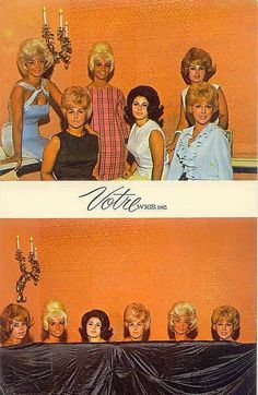 vintage 60's wig ad