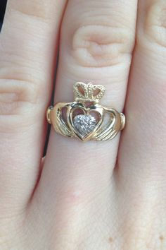 Claddagh ring. Please honey..
