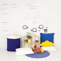 Counting sheep glow in the dark muursticker van Chispum Counting Sheep, Presents For Friends, Wall Sticker, How To Fall Asleep, Kids Bedroom, Are You Happy, Diy And Crafts, Furniture Design, Vinyls