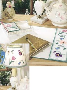 Desk-Top Pad: x 13 Note Pad Holder: 4 W x 6 H x 1 D (holds x note paper). Plastic Canvas Books, Plastic Canvas Crafts, Plastic Canvas Patterns, Annie's Crochet, Crochet Crafts, Tissue Box Covers, Tissue Boxes, Desk Set, Pc Desk
