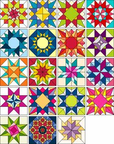 Wow check out this splendid patchwork quilts - what a very creative design Quilt Square Patterns, Barn Quilt Patterns, Square Quilt, Star Quilt Blocks, Star Quilts, Barn Quilt Designs, Quilting Designs, Mini Quilts, Scrappy Quilts
