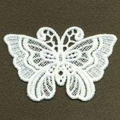 FSL Decorative Butterfly 2, 1 - 4x4 | FSL - Freestanding Lace | Machine Embroidery Designs | SWAKembroidery.com Ace Points Embroidery