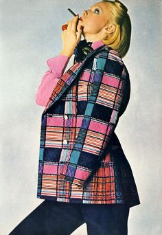 Great shot by David Bailey for Vogue - March 1972. Love the jacket, it would make a great furniture fabric.