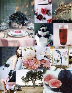 Navy blue & pink wedding inspirational board... elegant & pure!