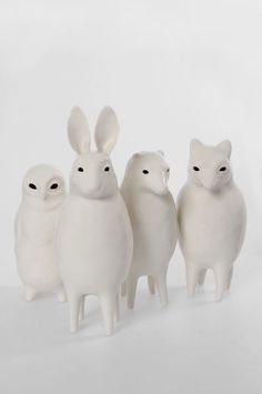 Sophie Woodrow Victorian-inspired porcelain animal sculptures
