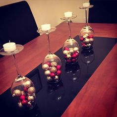 Festive & cheap way to make the xmas table look great