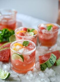 watermelon rosé margaritas by @howsweeteats I howsweeteats.com #watermelonrose #margaritas