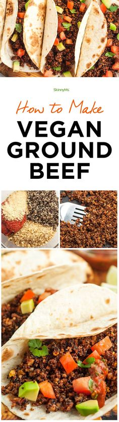 This is seriously the best Vegan Ground Beef I've ever had. It's so versatile and perfect for salads, sauces, wraps or my favorite...TACOS. #vegan #healthy #recipe #meatless