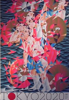 Concept Tokyo 2020 Olympics Posters    Collection of triangulated Cubist illustrations representing different sports.