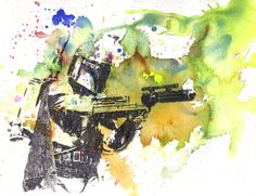 Boba Fett Watercolor
