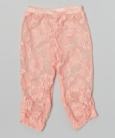 Look what I found on #zulily! Pink Lace Leggings - Infant, Toddler & Girls by Wenchoice #zulilyfinds
