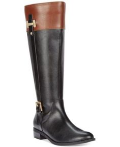 Karen Scott Deliee Riding Boots, Only at Macy's. I might end up getting this to replace my riding boots. I like that it's a color block boot