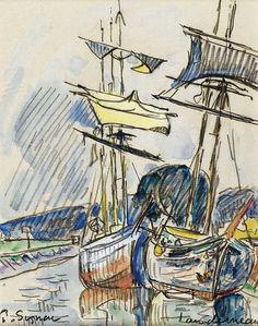 Paul Signac - Landerneau, 1925. Картины с аукционов Sotheby `s